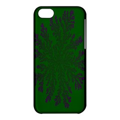 Dendron Diffusion Aggregation Flower Floral Leaf Green Purple Apple Iphone 5c Hardshell Case by Mariart