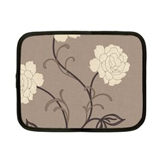 Flower Floral Black Grey Rose Netbook Case (small)  by Mariart