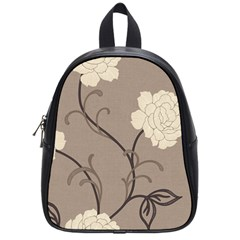 Flower Floral Black Grey Rose School Bags (small)  by Mariart
