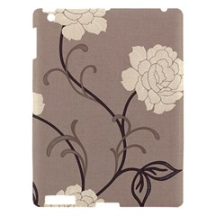 Flower Floral Black Grey Rose Apple Ipad 3/4 Hardshell Case by Mariart