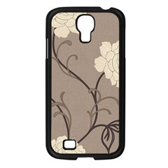 Flower Floral Black Grey Rose Samsung Galaxy S4 I9500/ I9505 Case (black) by Mariart