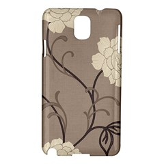 Flower Floral Black Grey Rose Samsung Galaxy Note 3 N9005 Hardshell Case by Mariart