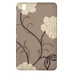 Flower Floral Black Grey Rose Samsung Galaxy Tab Pro 8 4 Hardshell Case by Mariart