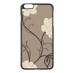 Flower Floral Black Grey Rose Apple Iphone 6 Plus/6s Plus Black Enamel Case by Mariart