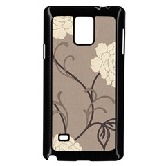 Flower Floral Black Grey Rose Samsung Galaxy Note 4 Case (black) by Mariart