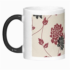 Flower Floral Black Pink Morph Mugs by Mariart
