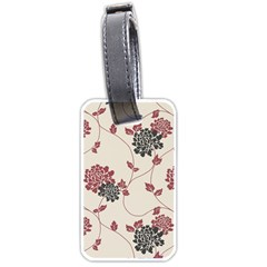 Flower Floral Black Pink Luggage Tags (one Side)  by Mariart