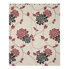 Flower Floral Black Pink Shower Curtain 60  X 72  (medium)  by Mariart