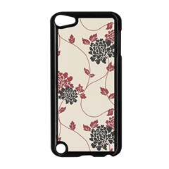 Flower Floral Black Pink Apple Ipod Touch 5 Case (black) by Mariart