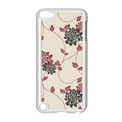 Flower Floral Black Pink Apple Ipod Touch 5 Case (white) by Mariart
