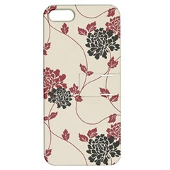 Flower Floral Black Pink Apple Iphone 5 Hardshell Case With Stand by Mariart