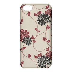 Flower Floral Black Pink Apple Iphone 5c Hardshell Case by Mariart