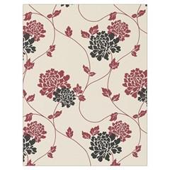 Flower Floral Black Pink Drawstring Bag (large) by Mariart