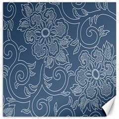 Flower Floral Blue Rose Star Canvas 20  x 20