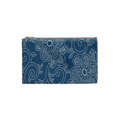 Flower Floral Blue Rose Star Cosmetic Bag (small)  by Mariart