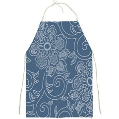 Flower Floral Blue Rose Star Full Print Aprons by Mariart