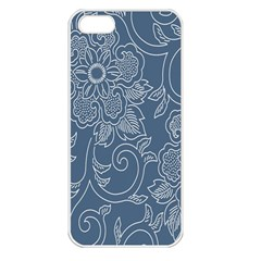 Flower Floral Blue Rose Star Apple Iphone 5 Seamless Case (white) by Mariart
