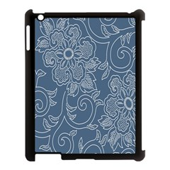 Flower Floral Blue Rose Star Apple Ipad 3/4 Case (black) by Mariart
