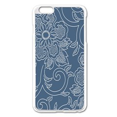 Flower Floral Blue Rose Star Apple Iphone 6 Plus/6s Plus Enamel White Case by Mariart
