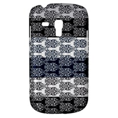 Digital Print Scrapbook Flower Leaf Colorgray Black Purple Blue Galaxy S3 Mini by Mariart