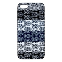 Digital Print Scrapbook Flower Leaf Colorgray Black Purple Blue Iphone 5s/ Se Premium Hardshell Case by Mariart