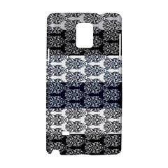 Digital Print Scrapbook Flower Leaf Colorgray Black Purple Blue Samsung Galaxy Note 4 Hardshell Case by Mariart