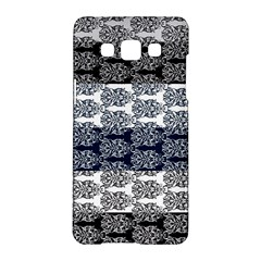 Digital Print Scrapbook Flower Leaf Colorgray Black Purple Blue Samsung Galaxy A5 Hardshell Case  by Mariart