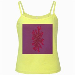 Dendron Diffusion Aggregation Flower Floral Leaf Red Purple Yellow Spaghetti Tank by Mariart