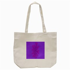 Dendron Diffusion Aggregation Flower Floral Leaf Red Purple Tote Bag (cream) by Mariart