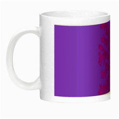 Dendron Diffusion Aggregation Flower Floral Leaf Red Purple Night Luminous Mugs by Mariart