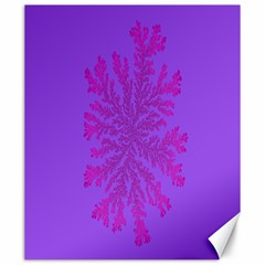 Dendron Diffusion Aggregation Flower Floral Leaf Red Purple Canvas 20  X 24   by Mariart