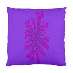Dendron Diffusion Aggregation Flower Floral Leaf Red Purple Standard Cushion Case (two Sides) by Mariart