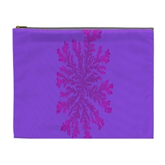 Dendron Diffusion Aggregation Flower Floral Leaf Red Purple Cosmetic Bag (xl) by Mariart