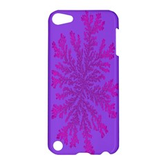 Dendron Diffusion Aggregation Flower Floral Leaf Red Purple Apple Ipod Touch 5 Hardshell Case by Mariart