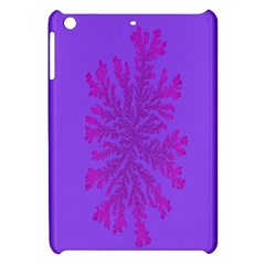 Dendron Diffusion Aggregation Flower Floral Leaf Red Purple Apple Ipad Mini Hardshell Case by Mariart