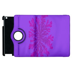 Dendron Diffusion Aggregation Flower Floral Leaf Red Purple Apple Ipad 3/4 Flip 360 Case by Mariart