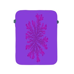 Dendron Diffusion Aggregation Flower Floral Leaf Red Purple Apple Ipad 2/3/4 Protective Soft Cases by Mariart
