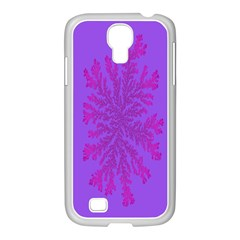 Dendron Diffusion Aggregation Flower Floral Leaf Red Purple Samsung Galaxy S4 I9500/ I9505 Case (white) by Mariart