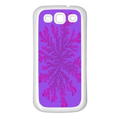 Dendron Diffusion Aggregation Flower Floral Leaf Red Purple Samsung Galaxy S3 Back Case (white) by Mariart