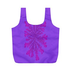 Dendron Diffusion Aggregation Flower Floral Leaf Red Purple Full Print Recycle Bags (m)  by Mariart
