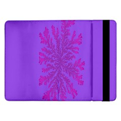 Dendron Diffusion Aggregation Flower Floral Leaf Red Purple Samsung Galaxy Tab Pro 12 2  Flip Case by Mariart