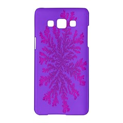 Dendron Diffusion Aggregation Flower Floral Leaf Red Purple Samsung Galaxy A5 Hardshell Case  by Mariart