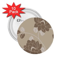 Flower Floral Grey Rose Leaf 2 25  Buttons (10 Pack)  by Mariart