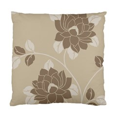 Flower Floral Grey Rose Leaf Standard Cushion Case (two Sides) by Mariart