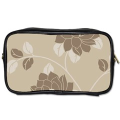 Flower Floral Grey Rose Leaf Toiletries Bags by Mariart