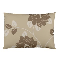 Flower Floral Grey Rose Leaf Pillow Case (two Sides) by Mariart