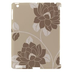 Flower Floral Grey Rose Leaf Apple Ipad 3/4 Hardshell Case (compatible With Smart Cover) by Mariart