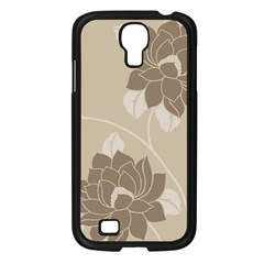 Flower Floral Grey Rose Leaf Samsung Galaxy S4 I9500/ I9505 Case (black) by Mariart