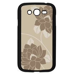Flower Floral Grey Rose Leaf Samsung Galaxy Grand DUOS I9082 Case (Black) by Mariart