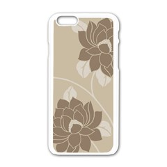 Flower Floral Grey Rose Leaf Apple Iphone 6/6s White Enamel Case by Mariart